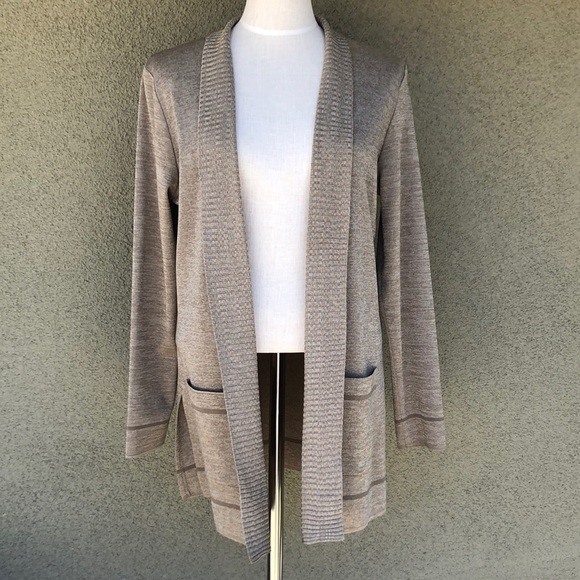 Misook taupe knit cardigan
